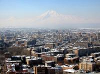 ARMENIA, YEREVAN CON ARARAT SULLO SFONDO