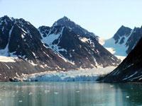 SVALBARD, il fronte glaciale di Magdalena