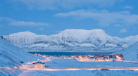 SVALBARD, Longyearbyen vista dal mare
