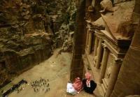 GIORDANIA, Petra, veduta dall'altro del Tesoro
