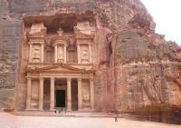 GIORDANIA, Petra, al-Khazneh o Tesoro del faraone. Tomba del 1º secolo a.C