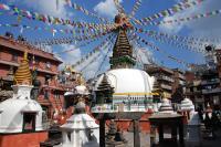 NEPAL, Kathmandu, kathesimbhu stupa
