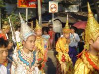 THAILANDIA, BIRMANIA, BIRMANIA , FESTA POPOLARE
