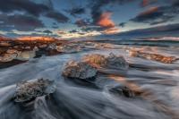 ISLANDA, ISLANDA ICE CAVE, GROTTE DI GHIACCIO, INVERNO, AURORA BOREALES