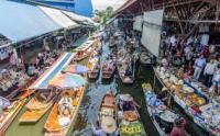 THAILANDIA, BIRMANIA, MERCATO GALLEGGIANTE
