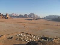 GIORDANIA, Jabal Rum Camp, deserto del Wadi Rum, panorama dall'alto.