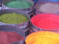PERU, Cuzco, colori vegetali al mercato (C.Mellina)