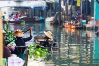 VIETNAM, CAMBOGIA, LAOS, INDONESIA, THAILANDIA, MERCATO GALLEGGIANTE
