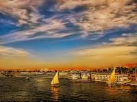 EGITTO, Panorama dal ponte della nave