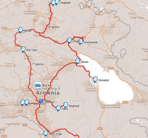 ARMENIA, TOUR DI GRUPPO 2017