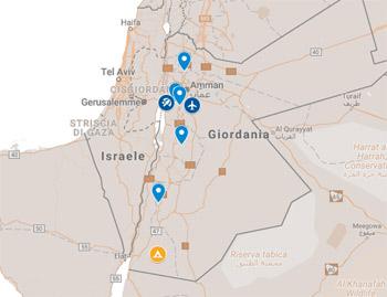 Amman, Madaba, Monte Nebo, Beida (piccola Petra), Wadi Rum, Petra, Mar Morto, Jerash, Ajloun.