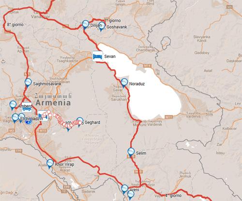 ARMENIA, ITINERARI CON AUTO A NOLEGGIO 2017