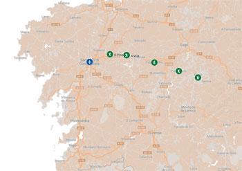 Sarria, Portomarin, Palas Del Rei, Arzua, O Pino, Santiago De Compostela.